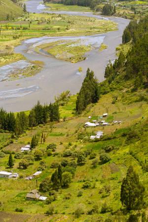 tungurahua: chambo river valley, tungurahua province, ecuador , vertical Stock Photo