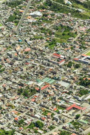 tungurahua: Banos de Agua Santa, Tungurahua province Ecaudor, aerial telephoto shot