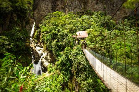 diablo: Painlon Del Diablo waterfall in Ecuadorian Andes, long exposure