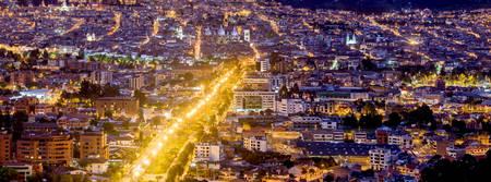 ecuador: Cuenca , Ecuador night time panorama Stock Photo