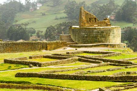 3rd ancient: Temple of the Sun ruins at Ingapirca Ecuador Stock Photo