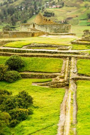 3rd ancient: Ingapirca ruins, the most important inca civilization constructions in modern Ecuador