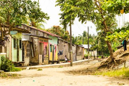 rosa: Santa Rosa, Ecuador - 26 July 2015: Wooden Shacks And Poverty In Ecuadorian Coast In Santa Rosa On July 26, 2015