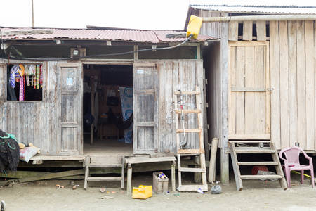 misery: Santa Rosa, Ecuador - 26 July 2015: Misery And Poor Living Condition As Seen In Santa Rosa On July 26, 2015