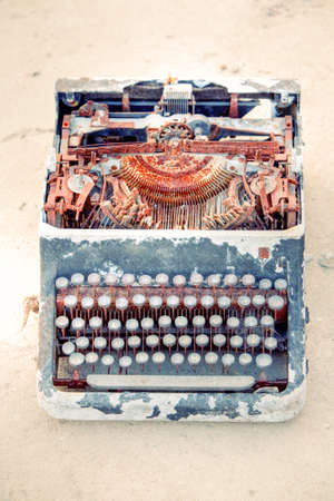 suggesting: Rusted Typewriter Suggesting Technological Evolution Of Those Type Of Devices
