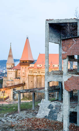 believed: It Is Believed To Be The Place Where Vlad Iii Of Wallachia Commonly Known As Dracula Was Held Prisoner Located In Hunedoara City Stock Photo