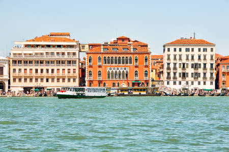 buidings: Old Buildings In Venice View From San Maggiore Island Stock Photo