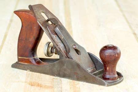 wood planer: Hand Planer Used Wood Finishing Stock Photo