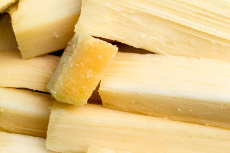 saccharum: Sugarcane Pieces Ready To Be Chewed