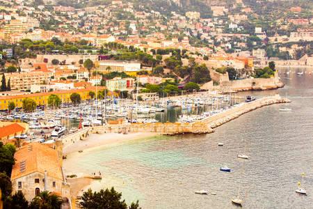 sanremo: Aerial View Of Sanremo Bay South Of France