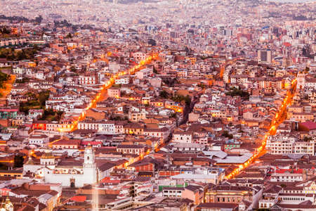 conquistador: Old Town Of Quito As Seen From Panecillo Statue