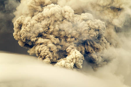tungurahua: Pyroclastic Explosion Over Tungurahua Volcano May 2011 Ecuador Stock Photo