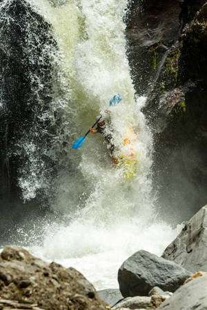 dynamic activity: Waterfall Kayak Jump Sangay National Park Ecuador