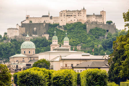 to and fro: Salzburg Old Churches And Fortress View Fro Mirabelle Garden