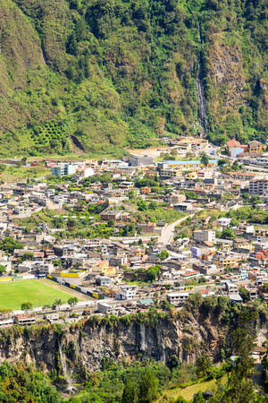 the place is important: Banos De Agua Santa Is A Canton Of Ecuador Located In The Tungurahua Province It Is Also A Place With Many Touristic Attractions Waterfalls And Thermal Water Being Most Important