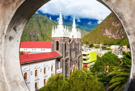 ecuador: La Basilica De Nuestra Senora Del Rosario De Agua Santa Banos Ecuador