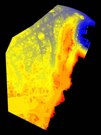 地形デジタル標高モデル 写真素材