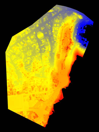 Terrain digital elevation model