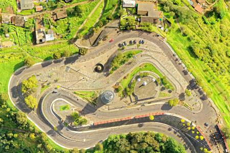 Virgen Del Panecillo Quito Aerial Overview