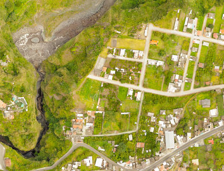 San Martin Canyon Banos De Agua Santa Orthorectified Drone Aerial Map Used For Photogrammetry