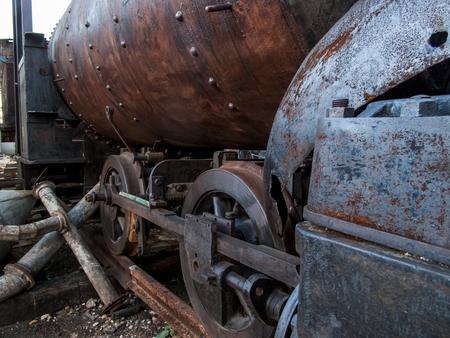 aging american: Old locomotive from Havana, Cuba Stock Photo