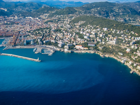 urbanism: Aerial view at Nice, France Stock Photo