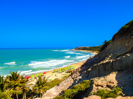 View at the Pipa beach in Brazil Imagens