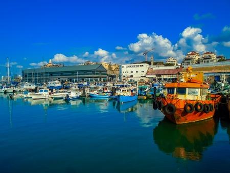 jaffa: View at the port in Jaffa, Israel