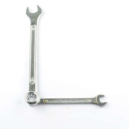 wrench L isolated on white background photo
