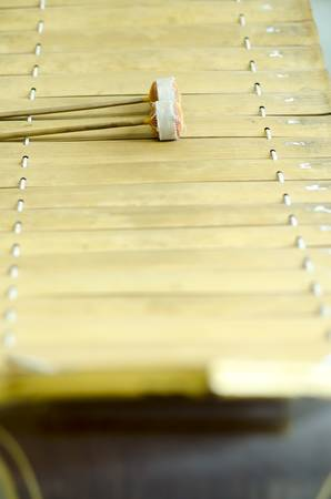 thai alto xylophone asia music instrument Stock Photo