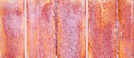 oxidation: rust texture on old door Stock Photo