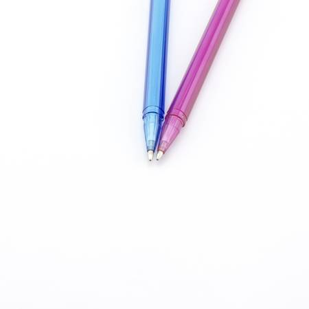 colorful pen isolated on white background photo
