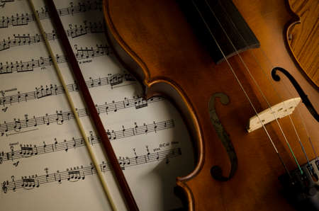 time to practice violin violin with sheet music on vintage style