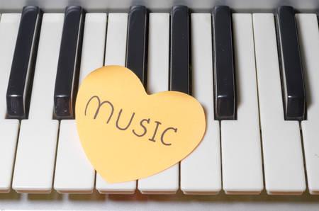 heart on key piano say love music photo