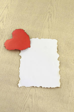heart with white paper photo