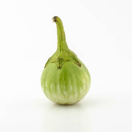 eggplant asia vegetable isolated on white background photo