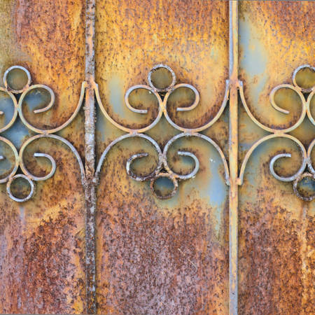 old rusty door texture background photo