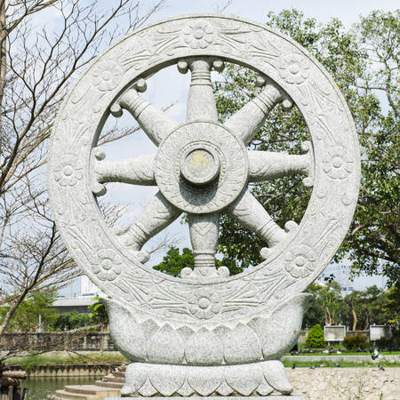 wheel of fortune Buddhism in thailand temple photo