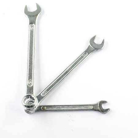 forkwrench: three wrench isolated on white background