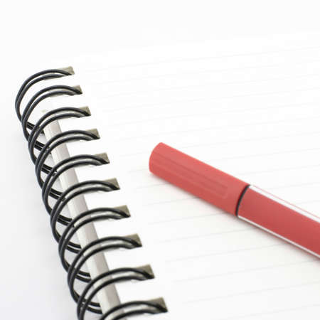 red pen isolated on white background photo