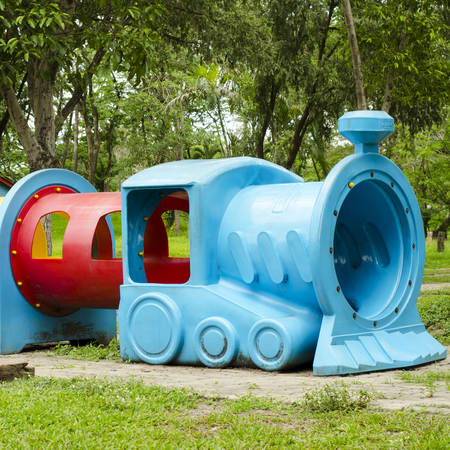 playground rides: rides for the childrens playground train symbolic