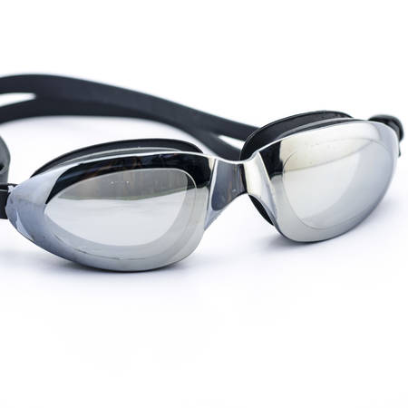 swimming goggles isolated on white background photo