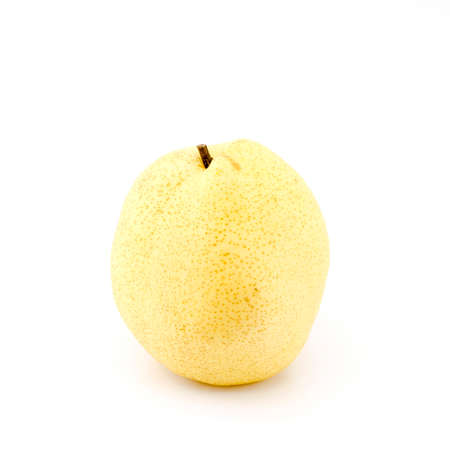 chinese pear isolated on white background Stock Photo