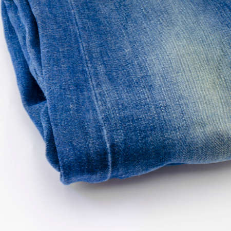 blue jean isolated on white background photo