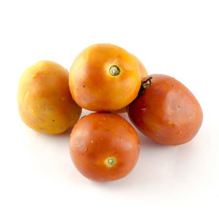 food vegetable ugly tomato isolated on white background Stock Photo