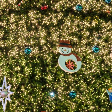 Christmas festival with decorate Christmas tree lighting
