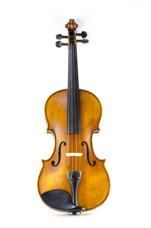 music string instrument violin isolated on white background photo