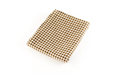 brown kitchen towel on a white background photo