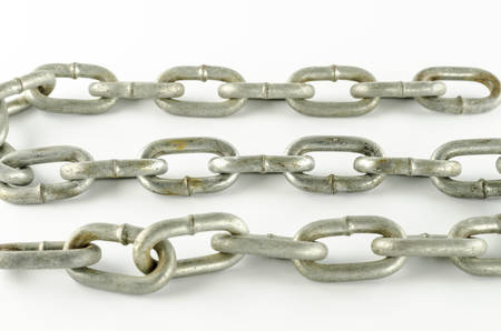 metal chain on a white background photo