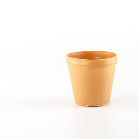 limescale: flowerpot on a white  Stock Photo